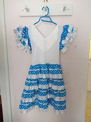 traje flamenca azul