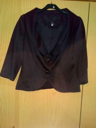 chaqueta traje negra
