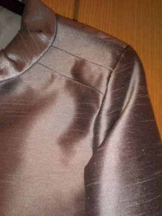 torera chaquetilla gris plata para vestir