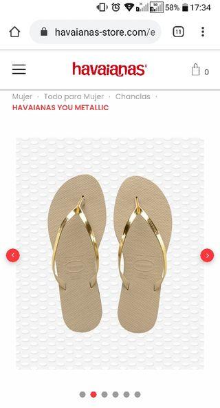 Chanclas HAVAIANAS 37/38 sin usar