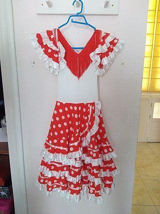 traje flamenca rojo