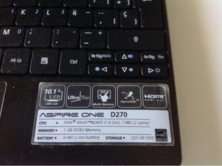 Acer Aspire One D 270