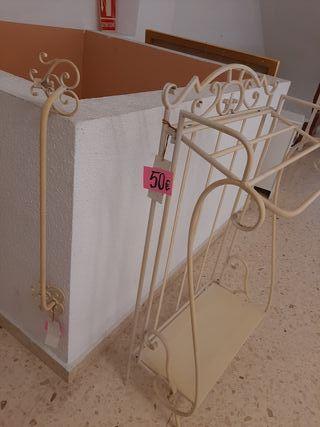 toalleros forja(conjunto de 2 piezas)