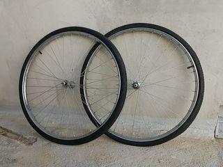 ruedas de bicicleta antigua