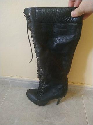 Botas altas Aldo piel negro