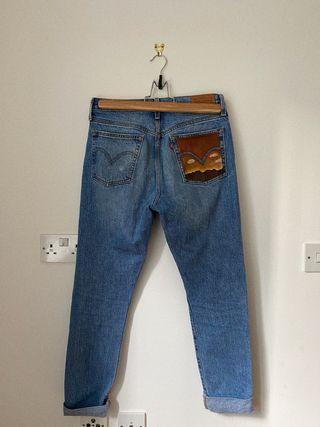 LEVIS jeans painted Arizona