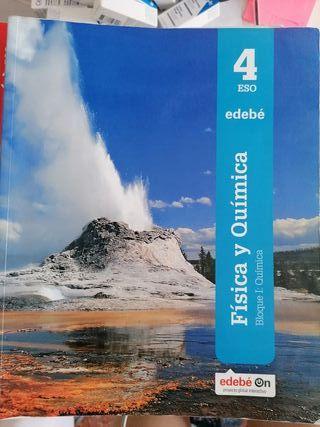 libro física y química, 4°ESO edebe