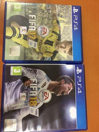 Videojuegos FIFA 17 y FIFA 18 seminuevos