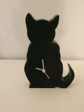 reloj silueta de gato