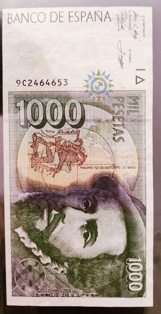 billete 1000 pesetas serie especial 9