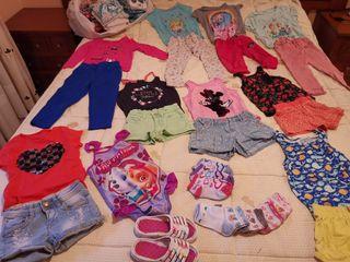 Lote ropa niña 5 años + de 100 prendas temporada