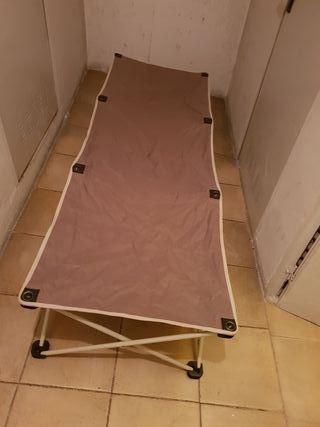 cama plegable camping