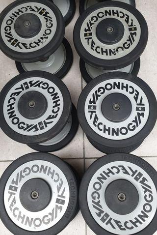 mancuernas Technogym d 6 y 8 kg están en tarragona