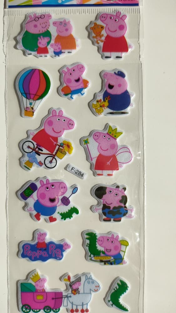 Lote Pegatinas Peppa Pig con relieve