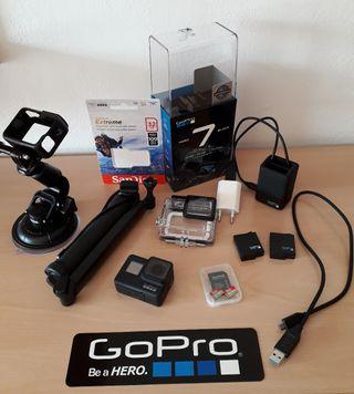 GoPro Hero 7 BLACK + Kit accesorios