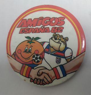 Chapa Naranjito mundial futbol 1982