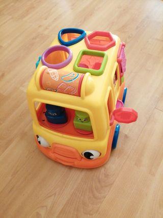 Juguete bebé coche con piezas encajables