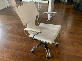 sillas ruedas oficina blancas
