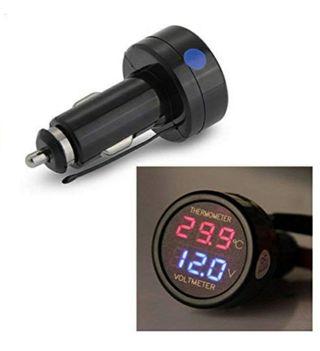 voltimetro y termómetro digital