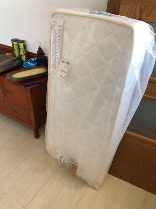Colchón muelles para cuna de algodón de bambú