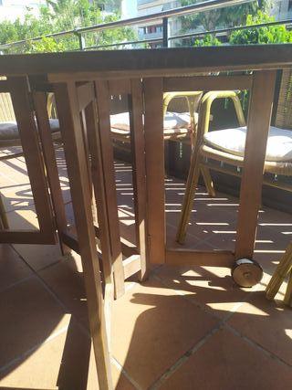 Mesa madera jardín (sillas opcionales)