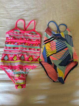 Bañadores niña natación, playa. 5/7 años