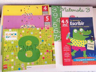 lote librillos de actividades para 4 y 5 años