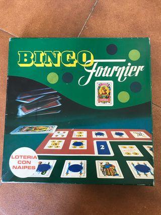 Juego bingo fournier lotería con naipes