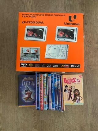 REPRODUCTOR DVD, COCHE 2 PANTALLAS