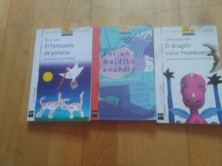 3 libros 10-12 años de la editorial barco de vapor