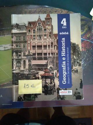 libros de Geografía e historia 4 eso edebe
