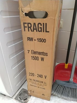 Radiador eléctrico de aceite 1500w