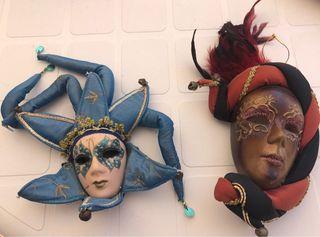 2 máscaras de porcelana