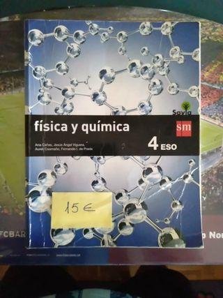 libro de física y química 4 eso savia sm