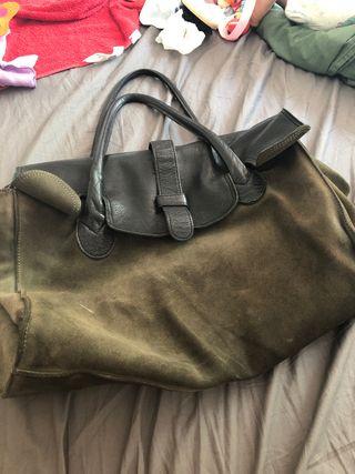 Bolso maletin piel y cuero