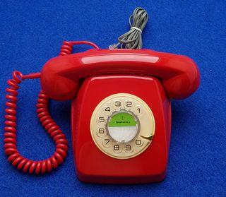 Telefono heraldo vintage resturado