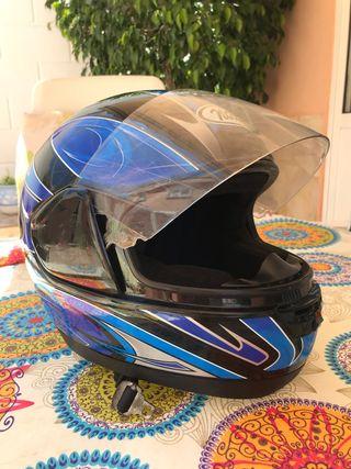 Casco de moto integral talla S