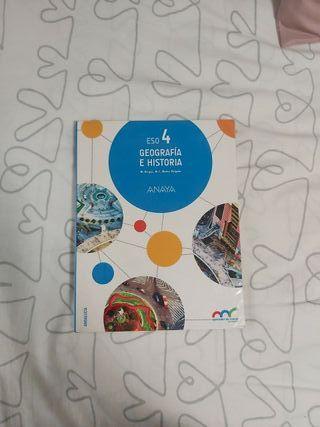 Libro Geografía e Historia 4°ESO Anaya.