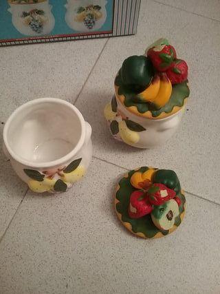 tarros azucareros porcelana. nuevos