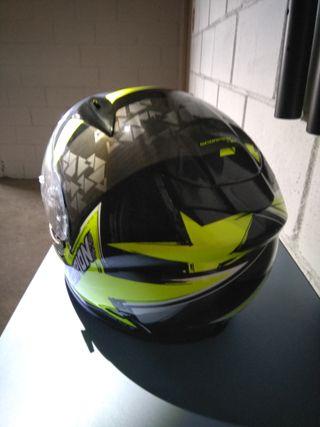 Casco moto Scorpion EXO amarillo airfit