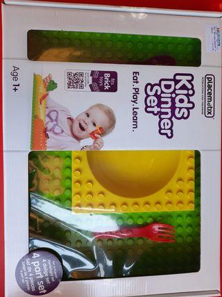 Set de cubertería y plato para niños/bebé