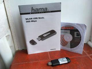Hama Wireless LAN 300Mbps USB 2.0 WiFi Stick
