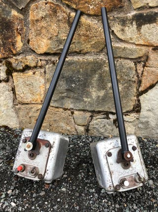Two Dowty hydraulic hand pumps