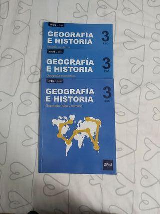 Libro Geografía e Historia 3°ESO editorial OXFORD.