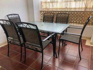 Mesa y sillas para Jardin