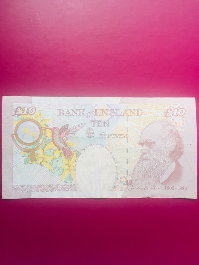 Old 10 pound note Bank of England.
