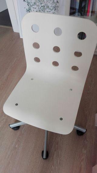 silla de estudio, oficina blanca regulable