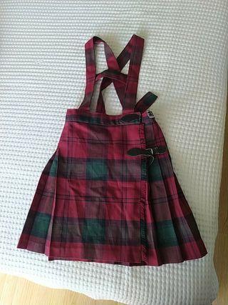 falda uniforme escolapios talla 6