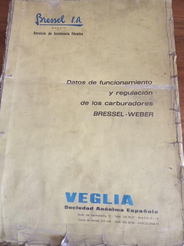 manuales de despiece y datos técnicos caburadores