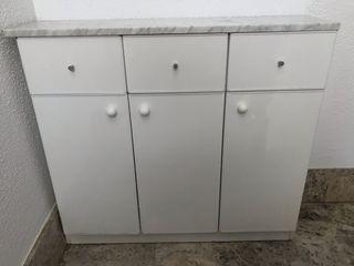 Mueble baño+encimera de mármol